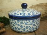 Tin / box, volume 450 ml, height 10 cm, Tradition 12 - polish pottery - BSN 10634