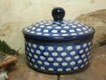 Tin / box, volume 450 ml, height 10 cm, Tradition 4 - polish pottery - BSN 10626