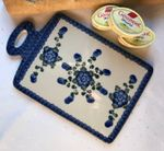 Breakfast board, 29.5 x 18.5 cm tall, Tradition 9 - polish pottery - BSN 0417 Picture 1