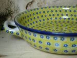 Bowl / dish with handle, Ø 27 cm, 5,5 cm high, Tradition 20 - polish pottery - BSN 1444 Picture 2