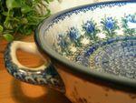 Bowl met handgrepen Ø27 cm x 5,5 cm (Ø31 cm met handgrepen)- unikat 7 - Poolse aardewerk-BSN 1448