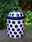Cookie jar, 21 cm high, 1300 ml Vol., Tradition 28 - polish pottery - BSN 10660