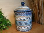 Tin / box, volume 1300 ml, height 21 cm, unique 4 - polish pottery - BSN 0207 Picture 1