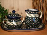 Maxi milk and sugar on the tray, Tradition 1 - polish pottery - BSN 2473