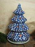 Wind light christmas tree - Tradition 4 - polish pottery - BSN 20055