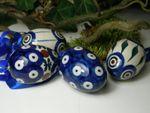 4er Set Easter eggs, ca. 5,5 cm high, bestelnr. 5258