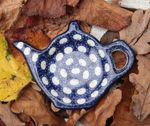 Teabag tray, 12 x 8,5 cm - Tradition 4 - polish pottery - BSN 99974