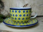 Cup with saucer (200 ml), Tradition 20 - polish pottery - BSN 30087