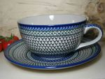 XXL cup / saucer, 4000 ml, Tradition 5 - polish pottery - BSN 6429