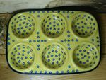 Baking tin,  29 x 20 x 4 cm, with 6 troughs, Tradition 20 - polish pottery - BSN 6170 Picture 2