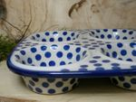 Baking tin, 29 x 20 x 4 cm, with 6 troughs, Tradition 24 - polish pottery - BSN 21608 Picture 2