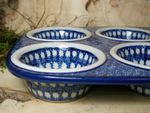 Baking tin, 29 x 20 x 4 cm, with 6 troughs, Tradition 30 - polish pottery - BSN 21614