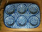 Baking tin with 6 troughs - polish pottery - Tradition 4 - BSN 6160 Picture 3