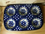 Baking tin with 6 troughs polish pottery - Tradition 6 -On : 6168