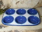 Baking tin, 29 x 20 x 4 cm, with 6 troughs, Unikat 18 - polish pottery - BSN 6175 Picture 5