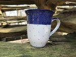 Cup 450 ml, Polsk Keramik, 12 cm høje, Unikat 18, BSN 10416 Billede 2