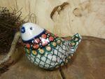 Fugle, 9,5 x 6,5 cm, Polsk Keramik, Unik 1, BSN 20969