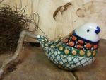 Bird, 9,5 x 6,5 cm, unique 1 - polish pottery - BSN 20969 Picture 3