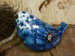 Bird, 9,5 x 6,5 cm, unique 4 - polish pottery - BSN 20955