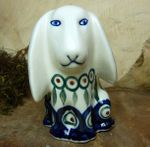 Dog, 11 x 11 x 7,5 cm, Tradition 10 - polish pottery - BSN 8009