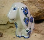 Dog, sitting, 11 x 11 x 7,5 cm, Tradition 8 - polish pottery - BSN 8007