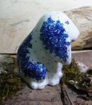 Dog, sitting, 11 x 11 x 7,5 cm, unique 10 - polish pottery - BSN 8030 Picture 2