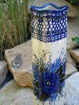 Blomstervase, 33-34 cm høj, Unik 2, Polsk Keramik retter, BSN 15145 Billede 3