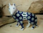 Dog, 15 x 16 x 7,5 cm, Tradition 10 - polish pottery - BSN 7121