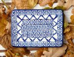 Soap dish-square, 12 x 8 cm, tradition 2, BSN m-944