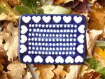 Soap dish-square, 12 x 8 cm, I love you too, BSN m-1004