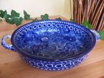 Bowl / dish with handle polish pottery Ø27 - high 5 cm- Unikat - BSN 1775