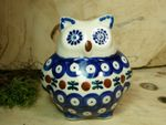Owl, 2. choice, 10,5 cm high, Tradition 6 - polish pottery - BSN 22501