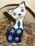 Cat 10,5 cm high - polish pottery - tradition 10 - second quality- BSN 5715