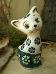 Cat 10,5 cm high - polish pottery - tradition 21 - second quality- BSN 5746