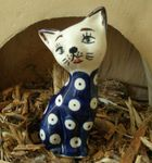 Cat 10,5 cm high - polish pottery - tradition 5 - second quality- BSN 5716