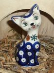 Cat 10,5 cm high - polish pottery - tradition 6 - second quality- BSN 5717