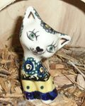 Cat 8,5 cm high - polish pottery - tradition 17 - second quality- BSN 5712
