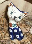 Cat 8,5 cm high - polish pottery - tradition 6 - second quality- BSN 5711