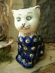Cat 15 cm high - polish pottery - tradition 10 - second quality- BSN 5765