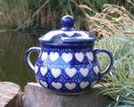 Sugar bowl, ↑10 cm, Ø12 cm, Ego portabo in corde meo, BSN s-203