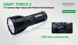 Saint Torch 3 Globetrotter LED Taschenlampe mit 2600 Lumen von Nextorch™ – Bild 3