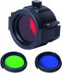 FT32 Taschenlampen Farbfilter mit RGB Linse 32mm Durchmesser – Bild 1