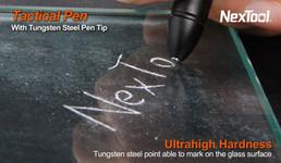 Dino Pen Tactical Pen von Nextorch Glasbrecher, Kubotan + Kugelschreiber – Bild 9