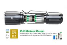 Tactical LED Taschenlampe, Nextorch TA10 , 560 Lumen, Multi-Batterie-Design, 170m Leuchtweite, Schwarz – Bild 3