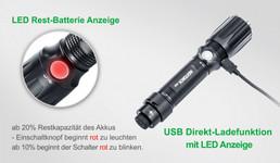 Nextorch TA5 GuardianTactical LED Taschenlampe, 900 Lumen, Kopf mit Nano- Keramik Glasbrecher, Stroboskopfunktion – Bild 12