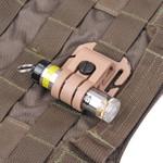 Glo Toob Tactical Kit Halterung Molle / PALs + Klett für GT-AAA und Pro Serie Farbe: schwarz – Bild 2