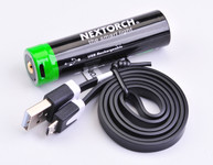 Akku 18650 USB Lithium-Ion (Li-Ion)  3.6V 3.400mAh für TA30/TA5/PA5/P5G/TA4/TA40/18650 Modelle inkl. Schutzschaltung – Bild 1