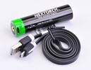 Akku 18650 USB Lithium-Ion (Li-Ion)  3.6V 3.400mAh für TA30/TA5/PA5/P5G/TA4/TA40/18650 Modelle inkl. Schutzschaltung