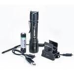 Taktisches TA40 Set 1040 Lumen LED Taschenlampe mit magnetischer Universal-Halterung, Kabelfernbedienung, 2.600 mAh Akku