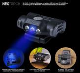 UL10UV - LED- Cliplampe Weißlicht + UV Licht 365nm zur Dokumentenkontrolle für Kappen, Molle, Rucksäcke, Koppel, Gürtel, 48 Lumen weißlicht – Bild 1